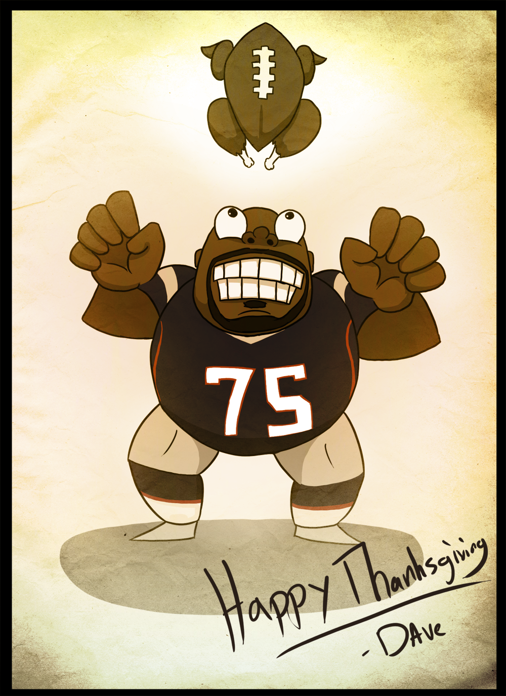 If you wanted a comic today, Wilfork you.