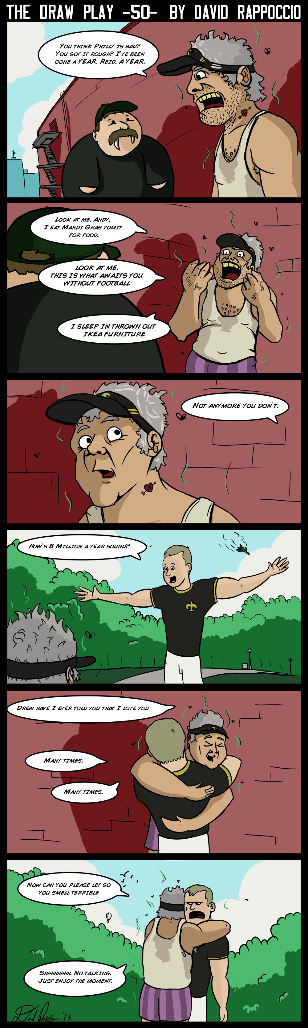 This comic was a Brees to make!.