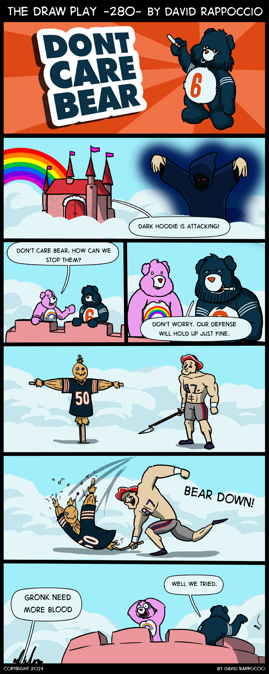 Man the Care Bear kingdom needs to work on self defense. Everyone can just come in and wreck everything