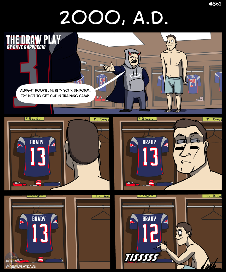 Maybe he deflated Drew Bledsoe too, the conspiracy runs deep