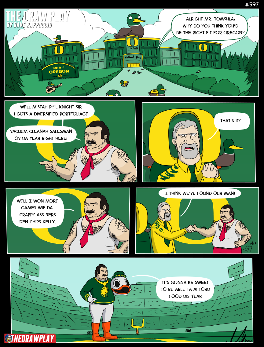 I know Phil Knight doesn't actually run U of O but he probably actually does lets be honest