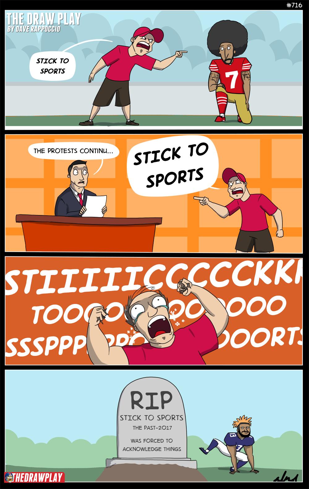 If someone tells you to #sticktosports, tell them to #sticktoyourprofession, and see what happens. Bring popcorn.