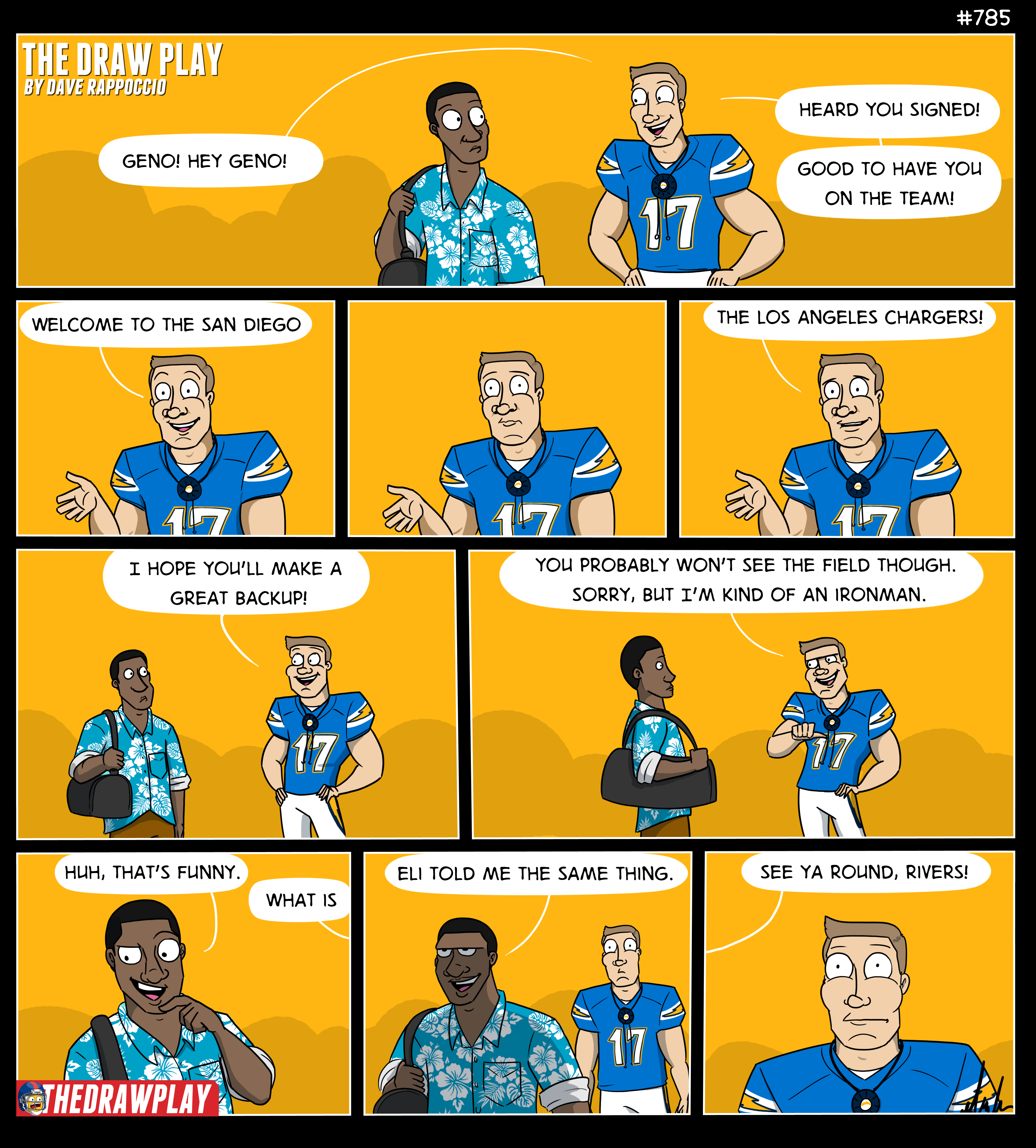 That second row is me every time I talk about the Chargers now.