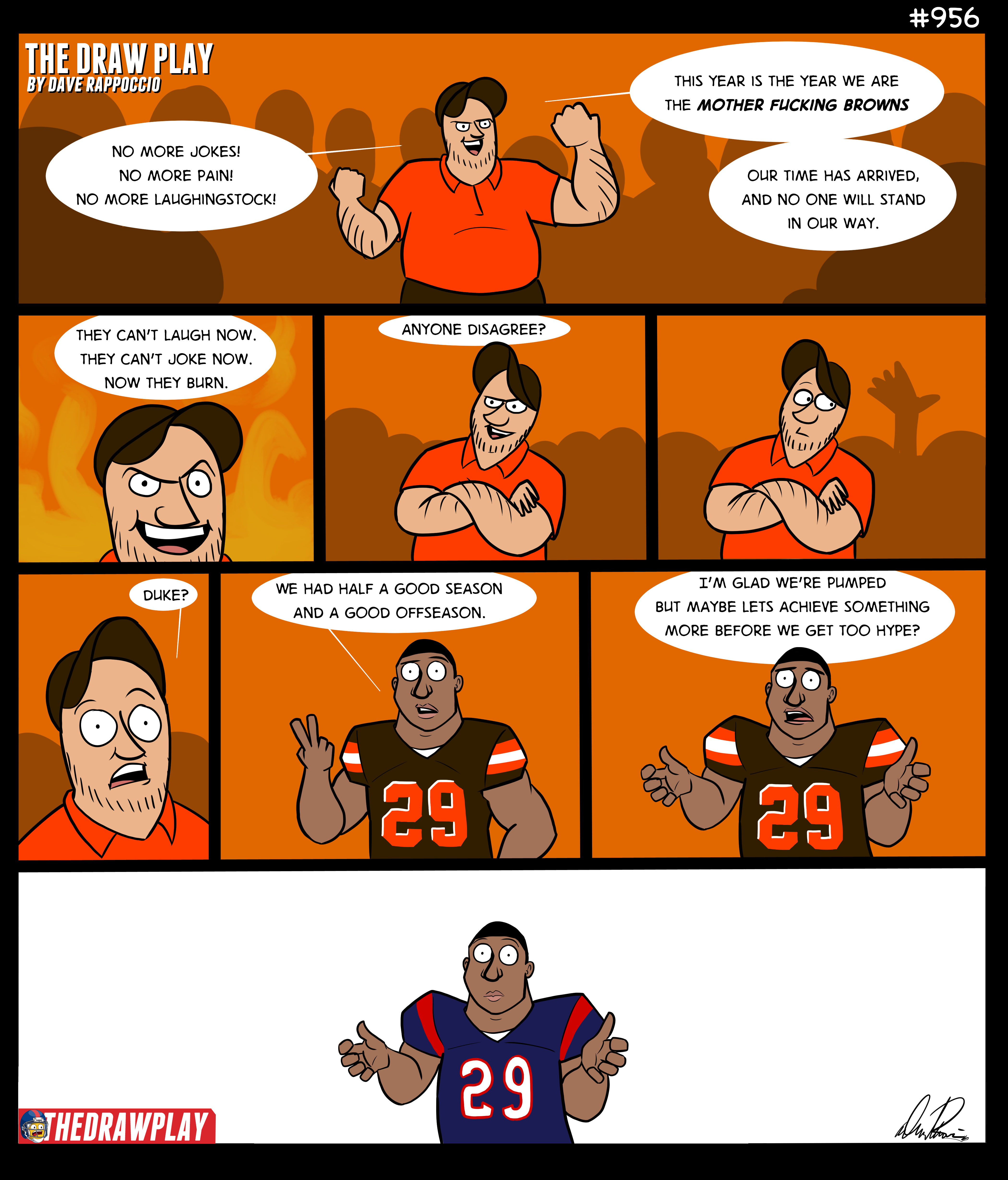 """""""It's Chubb time"""", says the Browns fan, before getting arrested"""