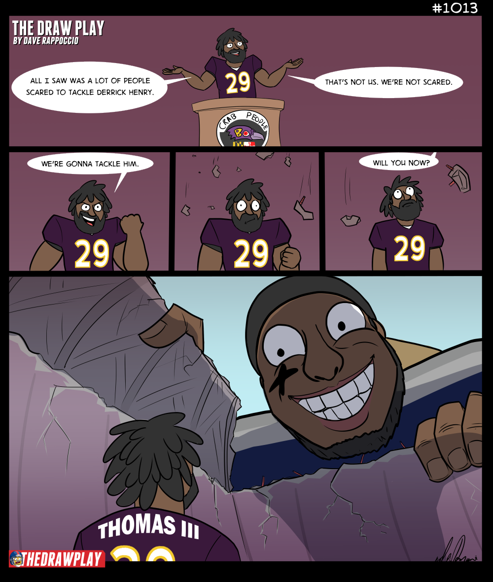 """Dave make a comic about the Ravens"" they said to me. And I whispered...""okay"""