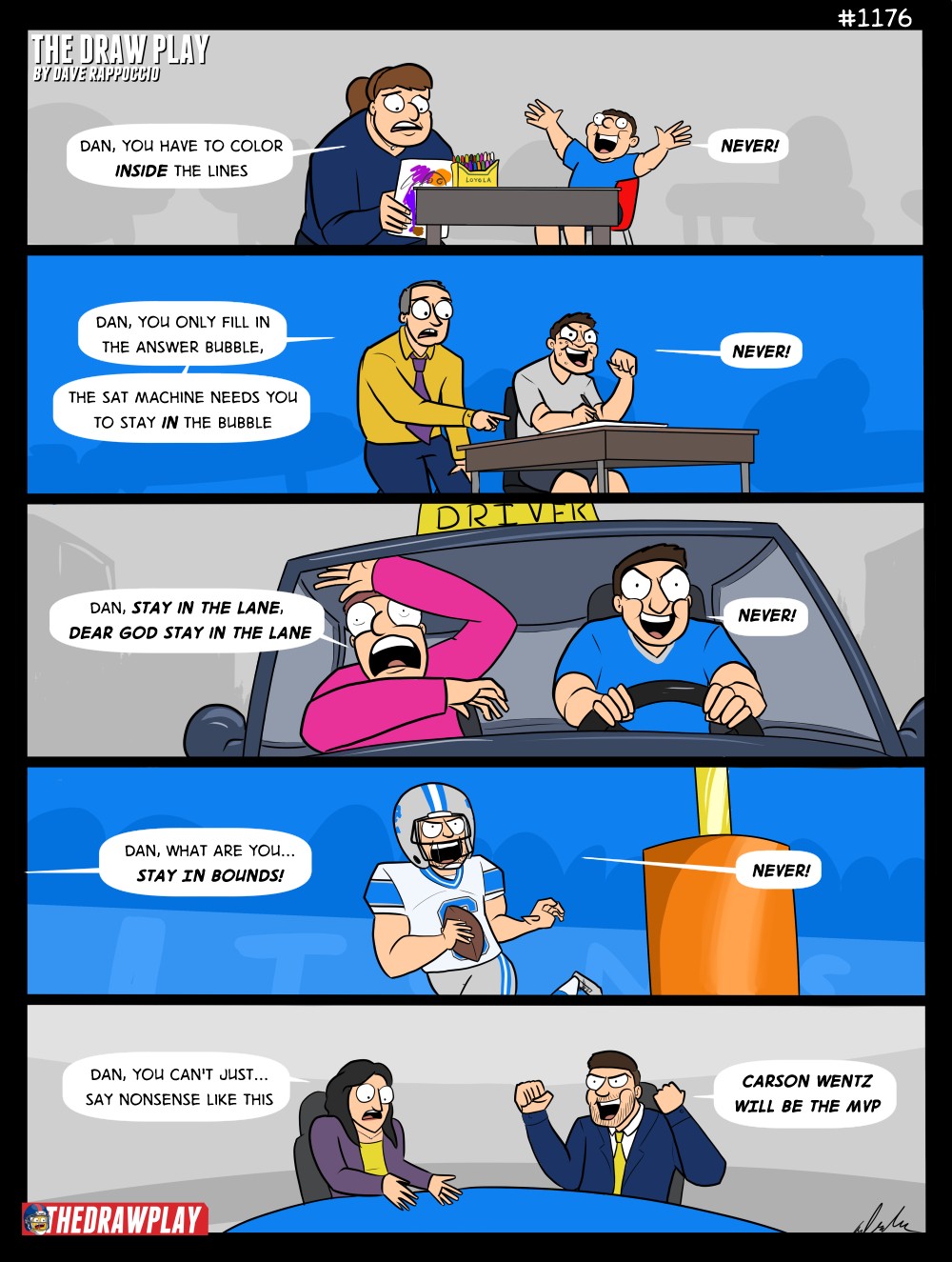 Rodgers please do something I am running out of jokes here I just made a comic about Dan Orlovsky